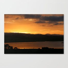 Sunrise - Tamar River - Tasmania - Aus Canvas Print