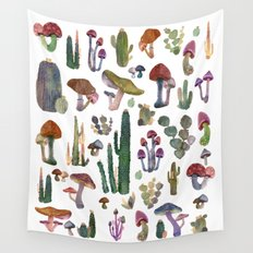 Cactus and Mushrooms NEW!!! Wall Tapestry