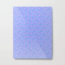 Patterns: Blue Pink Vines Metal Print