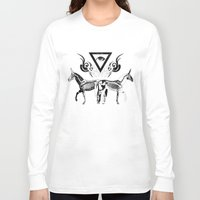 unicorns Long Sleeve T-shirts featuring Undead unicorns by Renars