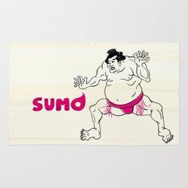 Ukiyoe Japanese SUMO wrestler Rug