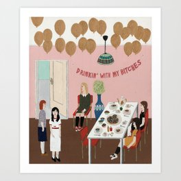 Lethargical Party Art Print