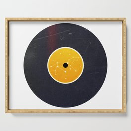 Vinyl Record Star Sign Art | Leo Serving Tray