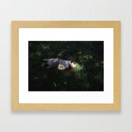 Girl sleeping Framed Art Print