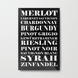Wine Celebration - black Metal Print