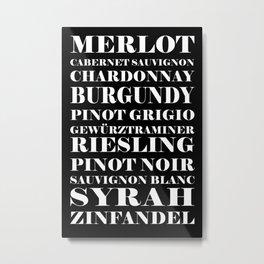 Wine Celebration - black Metal Print