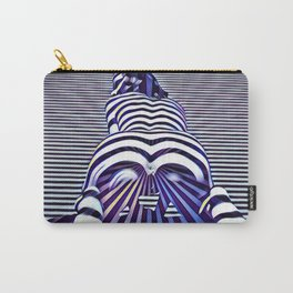 2519s-JPC Blue Striped Nude Woman From Behind Carry-All Pouch