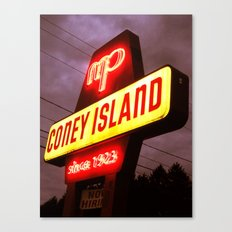 Small Town Coney Island Canvas Print