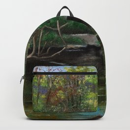 Evening On The Lake Backpack
