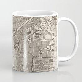 Vintage Map of Dublin Ireland (1764) Coffee Mug