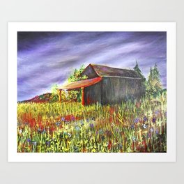 peace and poppies Art Print