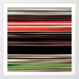 Mistletoe - Striped Art Print