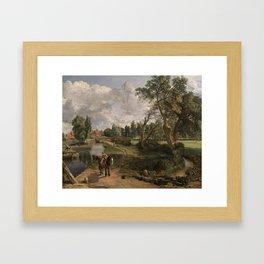 John Constable, Flatford Mill ('Scene on a Navigable River') 1816–7 Framed Art Print