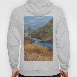 Glen Etive, a beautiful Scottish landscape, autumn, fall, by Luna Smith Art, LuArt Gallery Hoody