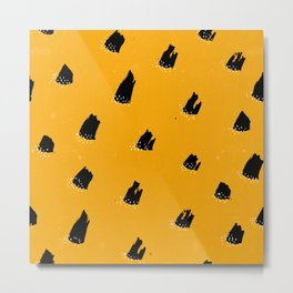 Brush Pattern - Cheetah Metal Print