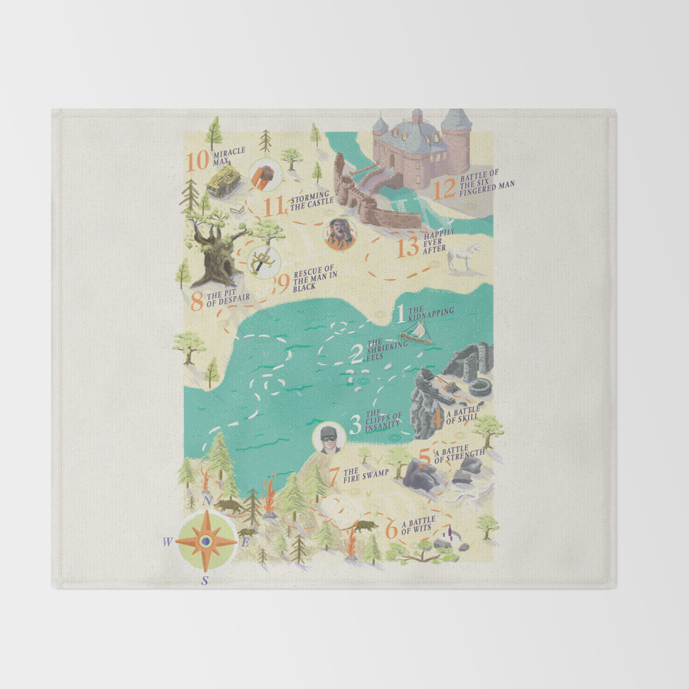 Princess Bride Discovery Map Throw Blanket BLK2734121