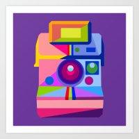 polaroid Art Prints featuring Polaroid by MaNia Creations