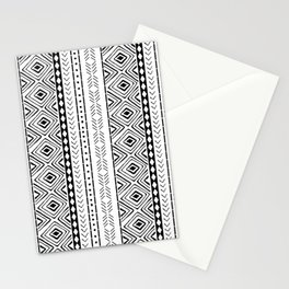 White Mudcloth Stationery Cards