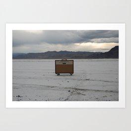 Vintage Amp on Salt Flats Art Print