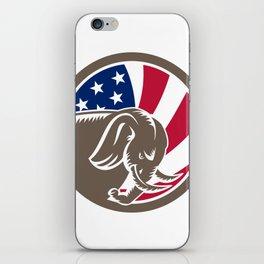 Republican Elephant Mascot USA Flag iPhone Skin