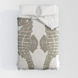 Vintage Tribal Sea Horses Comforters