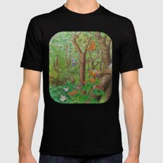 A Day of Forest (1). (walk into the forest) MEDIUM Black Mens Fitted Tee
