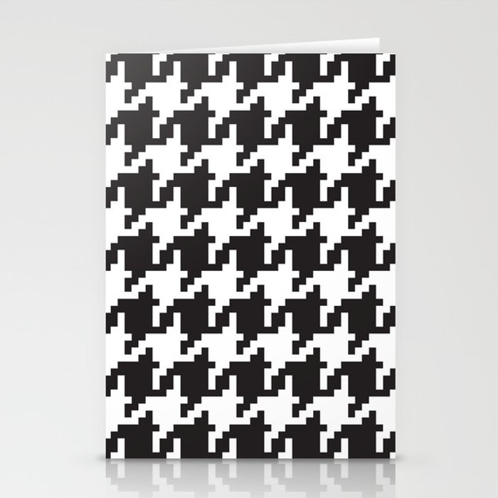 Houndstooth - Black & White Stationery Cards
