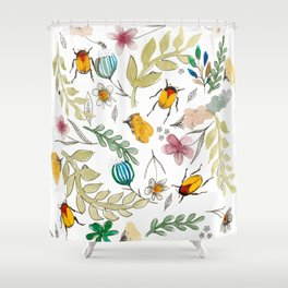 Undergrub and Petals Shower Curtain