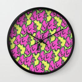 Stay Graffiti Pattern - Pop Pink Wall Clock