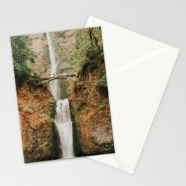 Multnomah Falls At Autumn  Stationery Cards