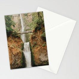 Multnomah Falls At Autumn  Stationery Cards