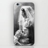 princess bride iPhone & iPod Skins featuring Bride by Hugo F G