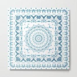 In Blue (Pattern Mandala) Metal Print