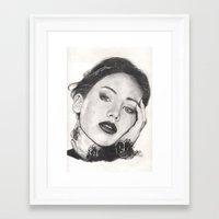 jennifer lawrence Framed Art Prints featuring jennifer lawrence by als3