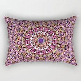 Colorful Spiritual Garden Mandala Rectangular Pillow