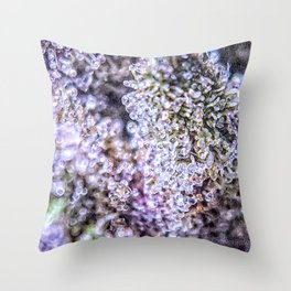 Grand Daddy Purple Forum Cut Cookies Strain Throw Pillow