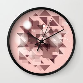 Neutral pattern 1 Wall Clock