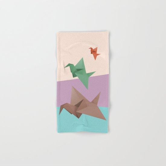 PAPER CRANES (Origami) Hand & Bath Towel