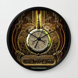 Steampunk, awesome clock and gears Wall Clock