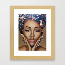 Brown Skin Framed Art Print
