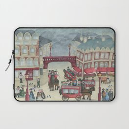 Old London and its commuters - A illustration inspired by victorian London Laptop Sleeve