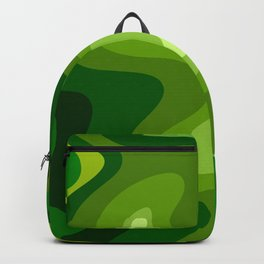 Multi Color Green Liquid Abstract Design Backpack