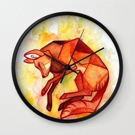 Angular maned wolf watercolor painting Wall Clock