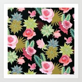 California Rose Garden Art Print