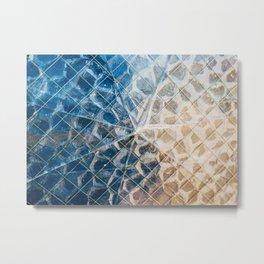 Cracked window Metal Print