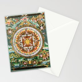 Buddhist Mandala White Tara Stationery Cards