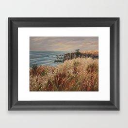 Wild coast of Croisic Framed Art Print