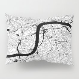 London Black and White Map Pillow Sham