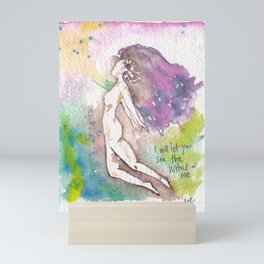 I will let you see me - watercolor painting Mini Art Print