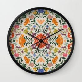 Florals from Mexico Wall Clock